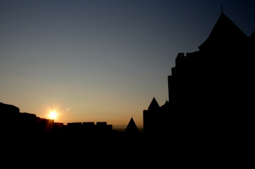 """Sunset over Carcassonne"""