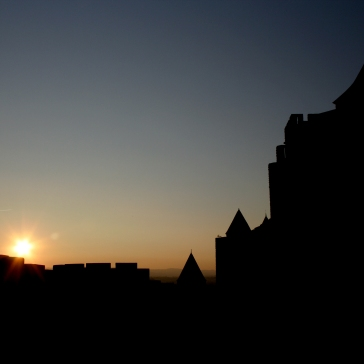"""Sunset over Carcassonne"""