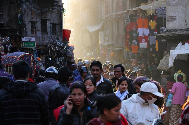Light on the street, Thamel
