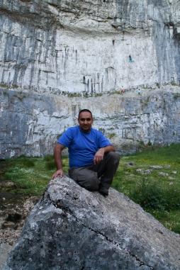 Kam on a rock