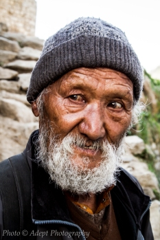 Old man in Namche Bazaar