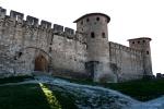 Imposing castle walls