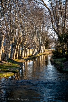 River running through Carcassonne